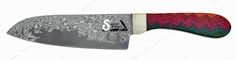 Нож поварской Santoku (One Sided Kaleidoscope) Santa Fe Stoneworks SF/DKD40 3 - купить в Rezat.Ru