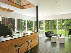 modern house forest - Google Search