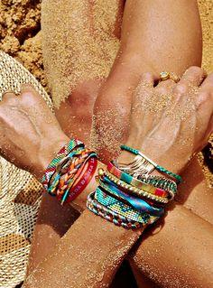 We love @Rebekah Ahn Steen colorful display of bracelets