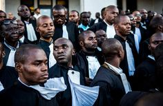 May 12, 2016 BRYAN DENTON FOR THE NEW YORK TIMES Lawyers gathered Wednesday in Lubumbashi, Democratic Republic of Congo, to support Moïse Katumbi, a presidential hopeful.
