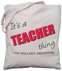It's a TEACHER thing - you wouldn't understand - Natural Cotton Shoulder Bag