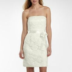 Lilianna Strapless Lace Dress with Satin Bow - jcpenney
