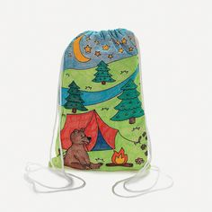 Color+Your+Own+Canvas+Camp+Drawstring+Backpacks+-+OrientalTrading.com