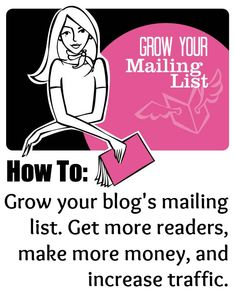 Grow your mailing list in 3 simple steps. This is the first in a three part series on how to grow your blog's mailing list to get more readers, make more money, and increase traffic.