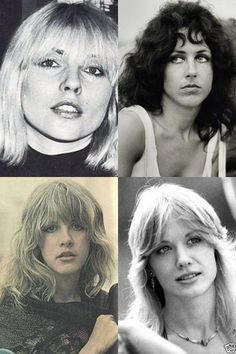 Four of the great 1970s female rock stars. Debbie Harry. Grace Slick, Stevie Nicks, Nancy Wilson