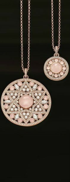 Thomas Sabo- love this Jewelry Art, Vintage Jewelry, Jewelry Accessories, Fine Jewelry, Jewelry Design, Fashion Jewelry, Jewlery, Black Peach, Ruby Pendant