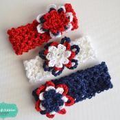 Patriotic Stretch Headband - via @Craftsy