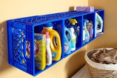 "Fantastic ""laundry room storage diy shelves"" detail is offered on our web pages. Read more and you wont be sorry you did. Tiny Laundry Rooms, Laundry Room Organization, Organization Ideas, Laundry Closet, Organizing Tips, Closet Storage, Diy Storage, Storage Shelves, Homemade Home Decor"