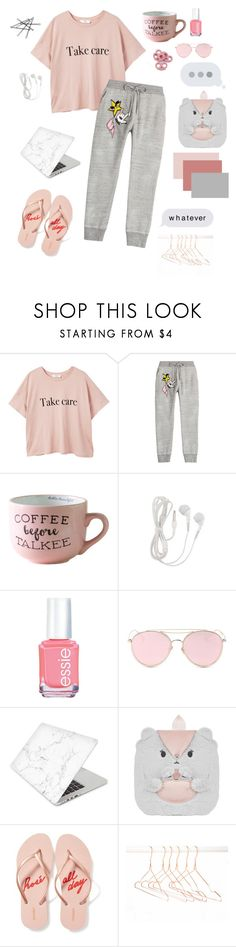 """""""Lazy shopping day"""" by alexhopeheart ❤ liked on Polyvore featuring MANGO, Dsquared2, Essie, LMNT, Recover, Monsoon and Old Navy"""