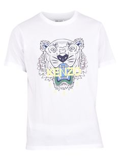 Kenzo Tiger T-shirt In White Tiger T Shirt, Kenzo, Short Sleeves, Mens Tops, Shirts, Clothes, Shopping, Outfits, Fashion