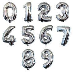 1 p 32 zoll Großen Silber Anzahl Ballon Aluminiumfolie Heliumballons Geburtstag Hochzeit Dekoration Feier Lieferungen