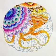 Jellyfish Using Faber Castell Watercolour Pencils
