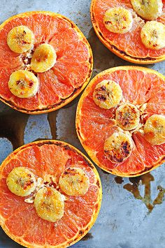 Broiled Grapefruit with Honey and Banana http://www.thesavory.com/food/win-brunch-these-blogger-recipes.html