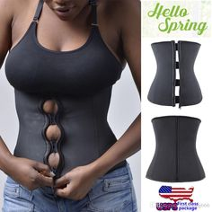 Us Stock Latex Rubber Waist Trainer Cincher Underbust Corset Body Shaper Shapewear Zip Up From Sungsung666, $25.13 | Dhgate.Com