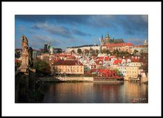 Framed fine art print - Hradcany and Lesser Town, Prague, Czech Republic. Photo: Josef Fojtik - www.joseffojtik.com - https://www.facebook.com/Fineartphotoprints