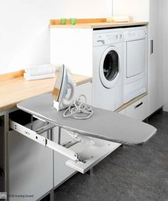 ironing board drawer - Google Search Washing Machine, Pantry, Drawers, Boards, Home Appliances, Cabinet, Storage, Hardware, Home Decor
