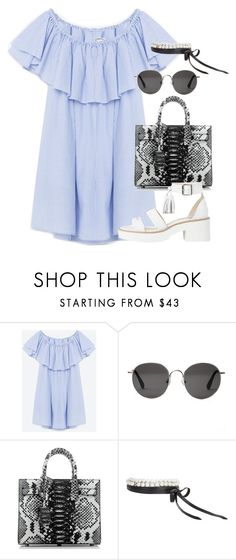 """Sin título #1790"" by camila-echi ❤ liked on Polyvore featuring The Row, Yves Saint Laurent and Fallon"