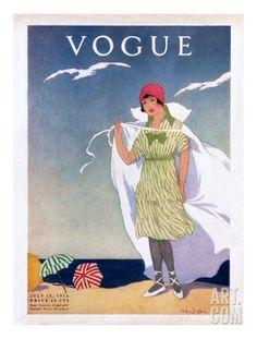 Vogue Cover - July 1912 Regular Giclee Print by Helen Dryden at Art.com