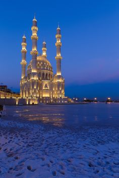 "Azerbaijan - Heydar mosque, Baku, Azerbaijan ~~ ""New mosque in Baku"" by Alexander Melnikov on 500px"