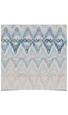 Wallpaper - Bargello in Caspian Blue. Quercus & Co