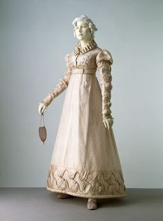 Dress and spencer jacket | V museum collection: ca. 1823, England (Figured silk, trimmed with silk, lined with silk, hand sewn)