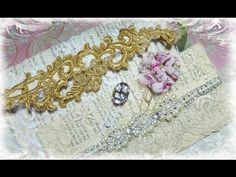 Lace Envelope Tutorial and Fancy Paperclips with Tresors de Luxe - YouTube