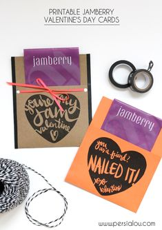 Printable Jamberry Valentines - You're my Jam, Valentined! These are so cute #jamberry