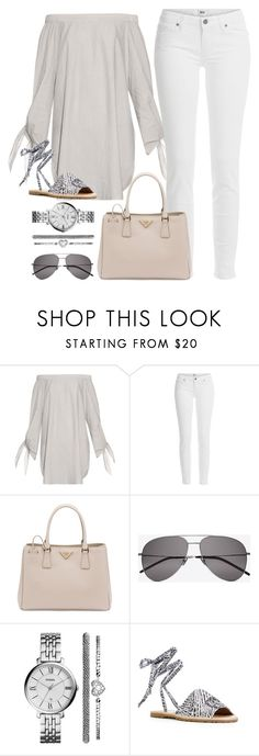 """""""Brunch with Friends"""" by junglover ❤ liked on Polyvore featuring TIBI, Paige Denim, Prada, Yves Saint Laurent, FOSSIL and JustFab"""