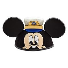 Disney Cruise Line Mickey Ears Diy Mickey Mouse Ears, Micky Ears, Disney Mickey Ears, Disney Toys, Disney Fantasy Cruise, Disney Cruise Line, Disney Countdown, Ear Hats, Disney Clothes