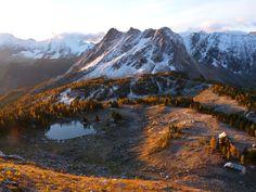 Cabin on Jumbo Pass, Purcell Range, British Columbia.