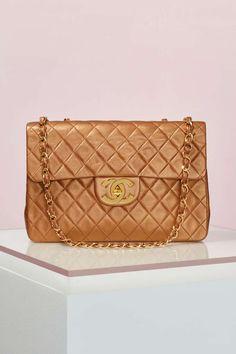 Vintage Chanel Bronze Leather Maxi Bag | Shop Vintage at Nasty Gal!