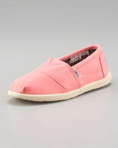 1ec1097690a TOMS Bright Pink Classic Canvas Shoe