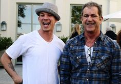 singer chris rene with mel gibson at angels at risk
