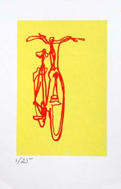 Bicycle Art Print  Classic Crescent City Bike by bicyclepaintings, $25.00