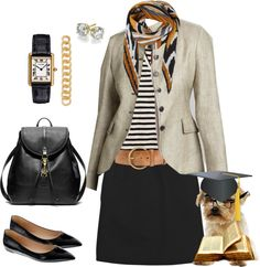 """Absent Minded Professor"" by crewstyle ❤ liked on Polyvore"
