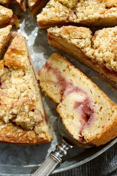 This strawberry streusel cake is the perfect end to a summer meal. The cake is slightly tricky to assemble, and at some point it may look like a mess. But everything comes together in the pan as it bakes, resulting in a tender, fragrant cake. (Photo:  Craig Lee for The New York Times)