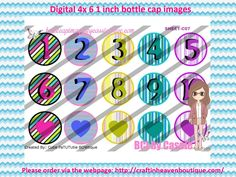1' Bottle caps (4x6) Digital numbers mix C07  ALPHABET/NUMBERS BOTTLE CAP IMAGES  #abc #ALPHABET #NUMBERS #bottlecapimages #bottlecap #BCI #shrinkydinkimages #bowcenters #hairbows #bowmaking #ironon #printables #printyourself #digitaltransfer #doityourself #transfer #ribbongraphics #ribbon #shirtprint #tshirt #digitalart #diy #digital #graphicdesign please purchase via link   http://craftinheavenboutique.com/index.php?main_page=index&cPath=323_533_42_45