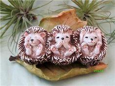 See Hear Speak No Evil Hedgehogs