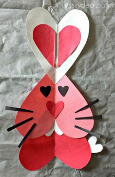 Heart Bunny Rabbit Craft For Kids {Valentine's Day Project}
