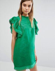 Style Mafia | Style Mafia - Vestito verde ricamato
