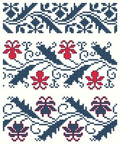 Lily cross-stitch pattern