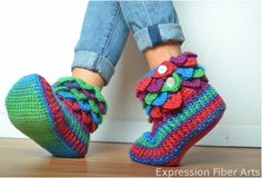 Ever wondered how to Crocodile Crochet? Master the art today and make these fabulous slippers!