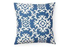 The Bright Stuff  Kimoley Medallion Pillow, Blue    $55.00