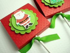 Christmas Lollipop Party Favors Red and Green by SimpleTastes, $40.90