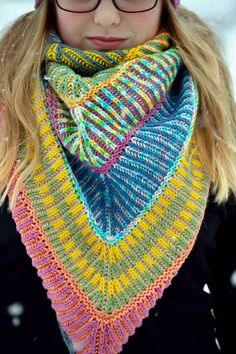 Knitting pattern for Brioche Shawl