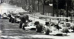 1969 - Chris Amon (F 312), Hill, Siffert, Brabham, Stewart ... - Spain GP, Montjuich