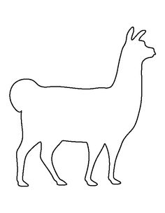 Llama pattern. Use the printable outline for crafts, creating stencils, scrapbooking, and more. Free PDF template to download and print at http://patternuniverse.com/download/llama-pattern/