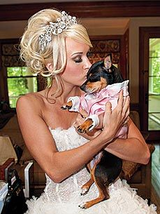 Carrie Underwood's Dog Wore a Pink Tux to Her Wedding