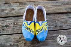 TOMS that I painted for UK DanceBlue!