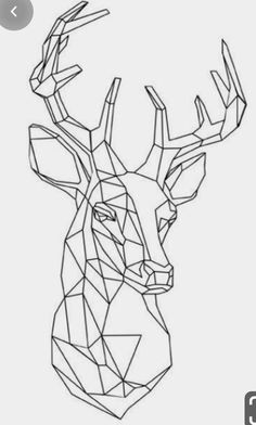 This item is unavailable Geometric Deer, Geometric Drawing, Geometric Shapes, 3d Zeichenstift, Animal Drawings, Art Drawings, Contour Drawing, Polygon Art, Geometry Art